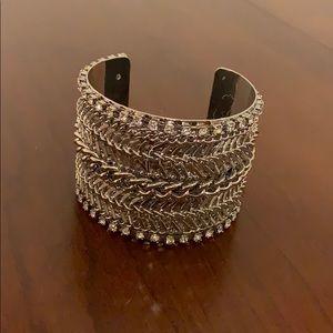 Jewelry - Silver chain cuff bracelet